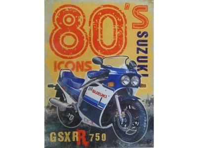 80's Icons - Suzuki  Blechschild  30x40