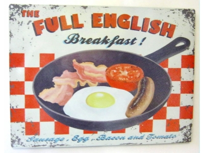 Full English Breakfast Blechschild  30x41