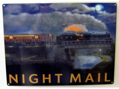 Night Mail  Blechschild  30x41