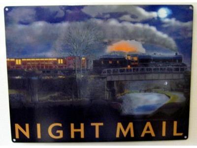 Night Mail  Blechschild  30x41