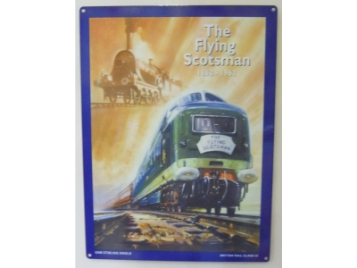 Flying Scotsman 1862 - 1962 British Rail  Blechschild  30x41