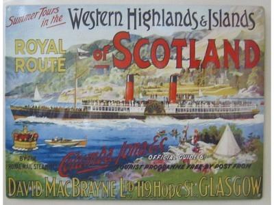 Western Highlands of Scotland Blechschild  30x41