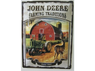 John Deere Farming Traditions Blechschild  30x40