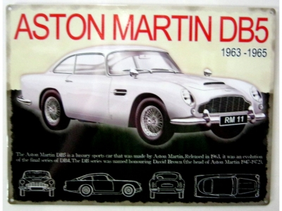 aston martin db5 blechschild 30x41 fahrzeuge benzin decor tech gmbh. Black Bedroom Furniture Sets. Home Design Ideas