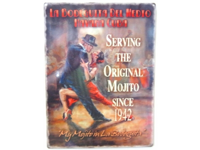 Havana Cuba Tango - My Mojito  Blechschild  30x41