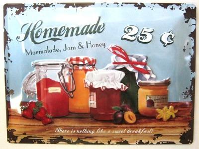 Homemade Marmalade hausgemachter Marmelade  Blechschild  30x40