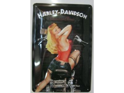 Harley-Davidson Biker Babe Blechschild  30x20
