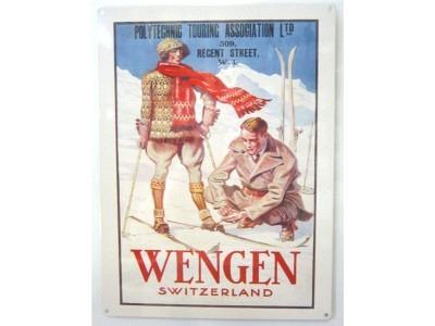 Wengen Schweiz Blechschild  30x41