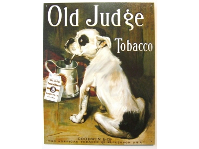 Old Judge Tobacco Blechschild 30X40cm
