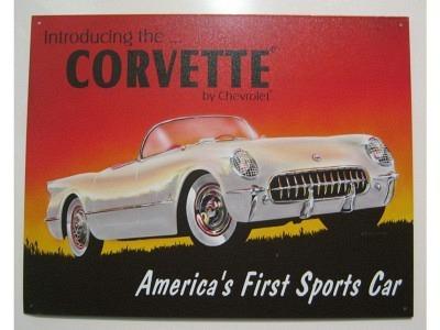 Corvette 53 Chevy Vette Blechschild  32X41cm