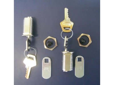 Schlösser 2 Stück und 4 Gleiche Schlüssel Länge Gewinde 28mm Geräteschlösser Typ1342 mit Rigel 30X16mm