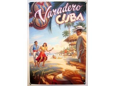 Kunstdruck Varadero  Kuba  ohne Rand 63 x 94 cm