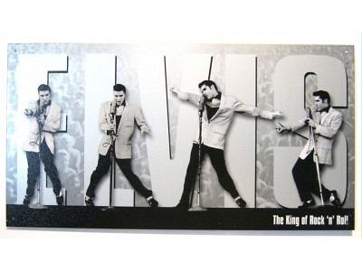 Elvis the King – Montage  Blechschild  Größe 41 x 22 cm