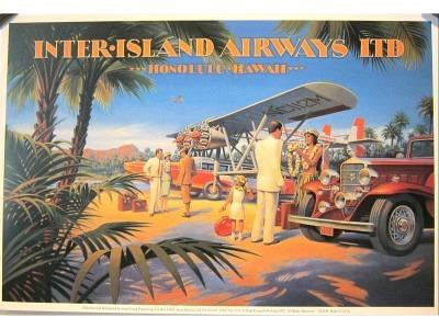 Inter-Island Airways  Kunstdruck Größ 33 x 22 cm