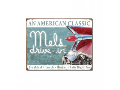 Mels drive-in, Blechschild Diner 41 x 31.5 cm