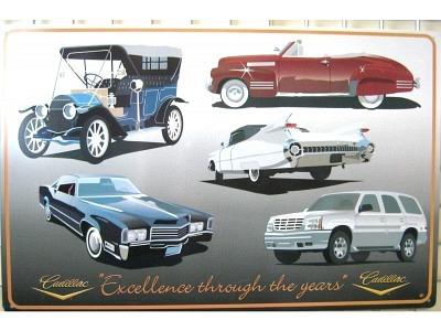 Cadillac Excellence Blechschild 45 x 29 cm