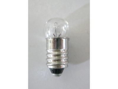 Lampe E10 12V 3Watt Drehgewinde (Glaskugelkopf D19)Grösse 10X24 mm