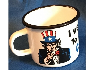 I WANT YOU TO DRINK YOUR COFFEE TASSE 8 x 8 x 7,5 cm