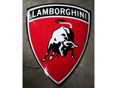 Lamborghini SCHILD Grösse 50 x 40cm gekrümmt Emailschild