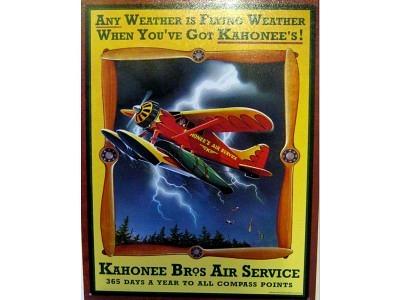 Blechschild Kahonee Bros Air Service Größe 32 x 41 cm