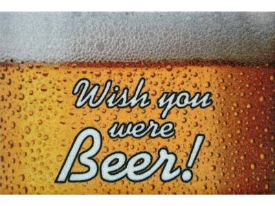 Mat 40 x 60 cm - Wish you were Beer