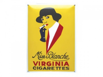MISS BLANCHE VIRGINIA  Grösse 9 X 14cm Gekrümmt