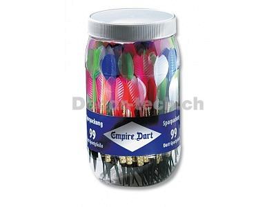 Dart-Pfeile Sparpackung farbig assortiert 99 Stück