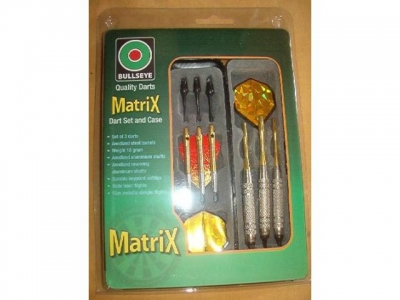 Dart-Set Matrix gold 3 Quality Pfeile und Turnier-Etui