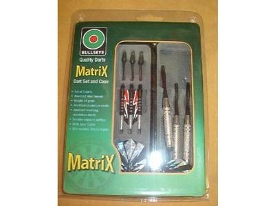 Dart-Set Matrix schwarz 3 Quality Pfeile und Turnier-Etui