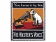 His Masters Voice Emailschild His Masters Voice  Spezial EDITION  Flach Grösse 22X25Cm
